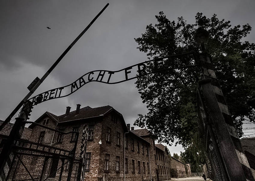Auschwitz-Birkenau Concentration Camp's Gate
