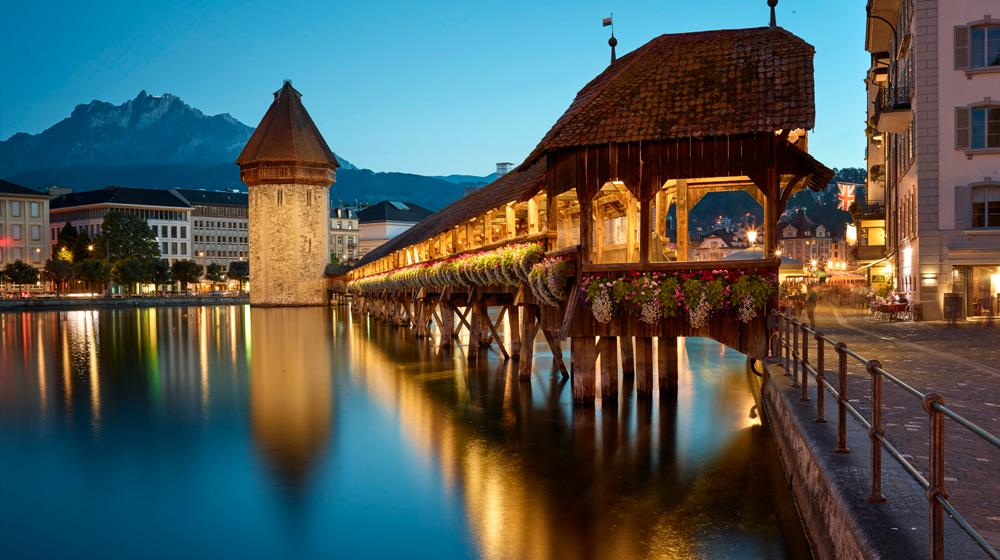 Charming Lucerne at the end of the winter